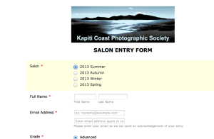 Entry Form 2013