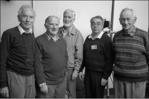 The Presenters. (L to R – Fred Wotton, Michael Martin, Brian Smith, Arthur Wong, Herman Visser).