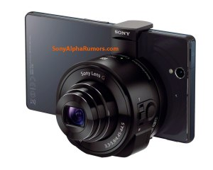 Sony QX10 attached to a Sony smartphone (leaked, rumour)