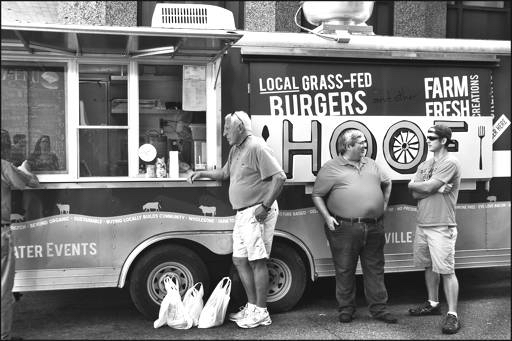 """Burger-fed Locals"" - ©Alison Viskovic"