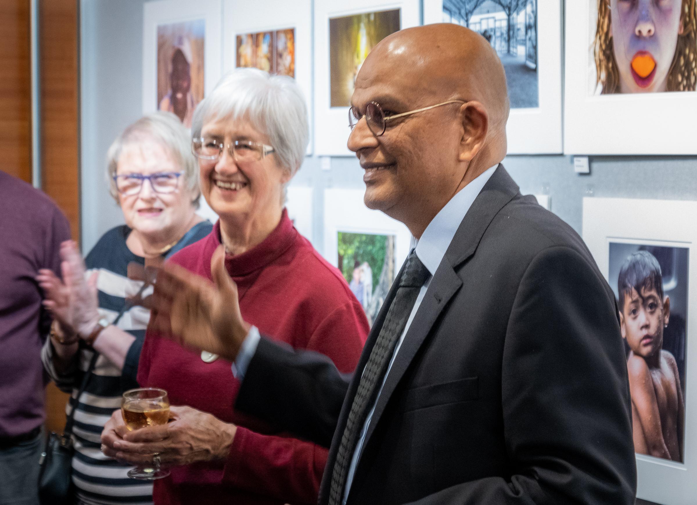 Mayor Guru Declaring Exhibition Open