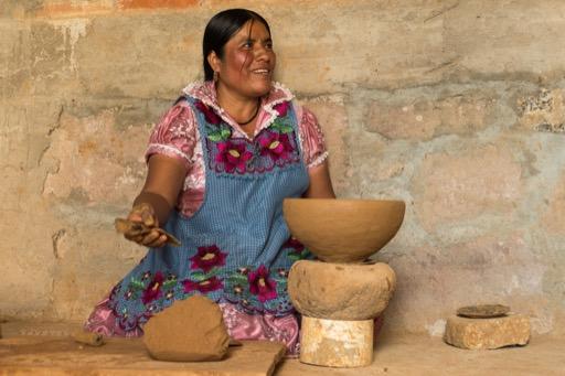 """Zapotec Women Potter"" - Highly Commended, Intermediate Print - ©Isobelle Gosling"